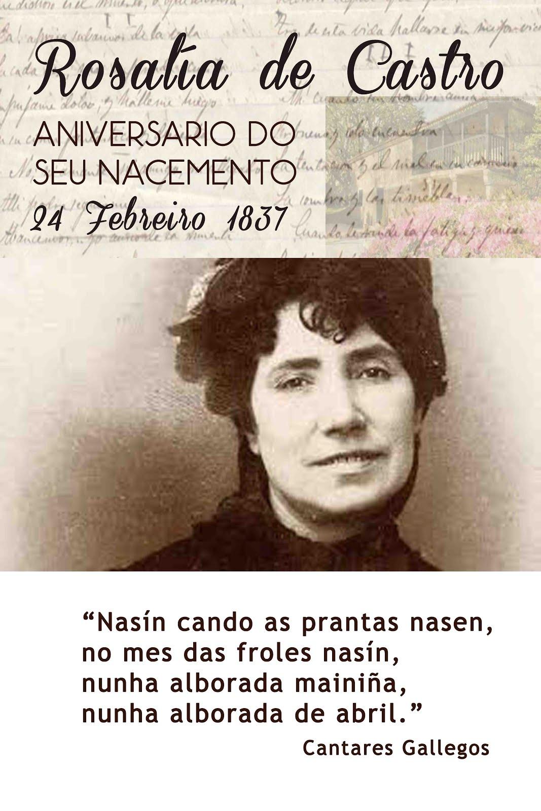 179º aniversario do nacemento de Rosalía de Castro