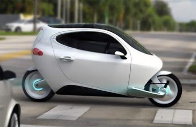 ابتكار جديد : السيارة الكهربائية C 1 تجمع بين حجم الدراجات النارية و قوة تحمل السيارة