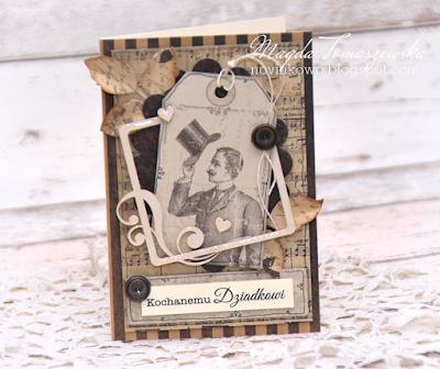 ręcznie robiona kartka z okazji dnia dziadka