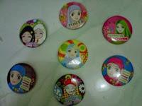 souvenir bros/pin motif jilbab, souvenir pernikahan, Souvenir pernikahan murah,  souvenir bros