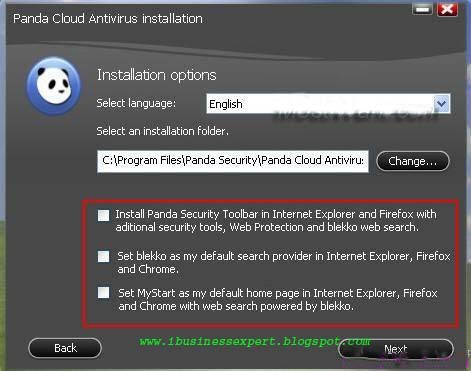 "Panda Cloud Antivirus Pro"" button to avail the Pro version free for"