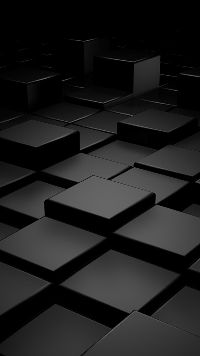 download Best 3D Black iPhone 5 HD Wallpapers