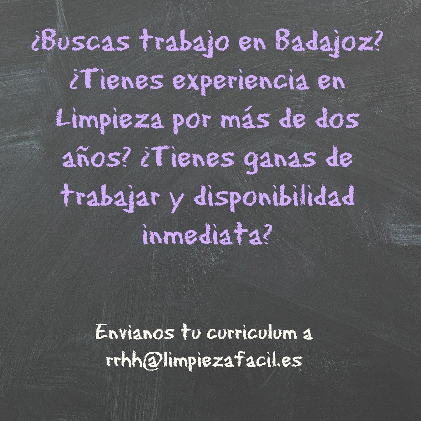Oferta de trabajo - Limpiadora en Badajoz