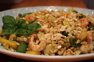 Grönsakswok med bulgur och ingefära