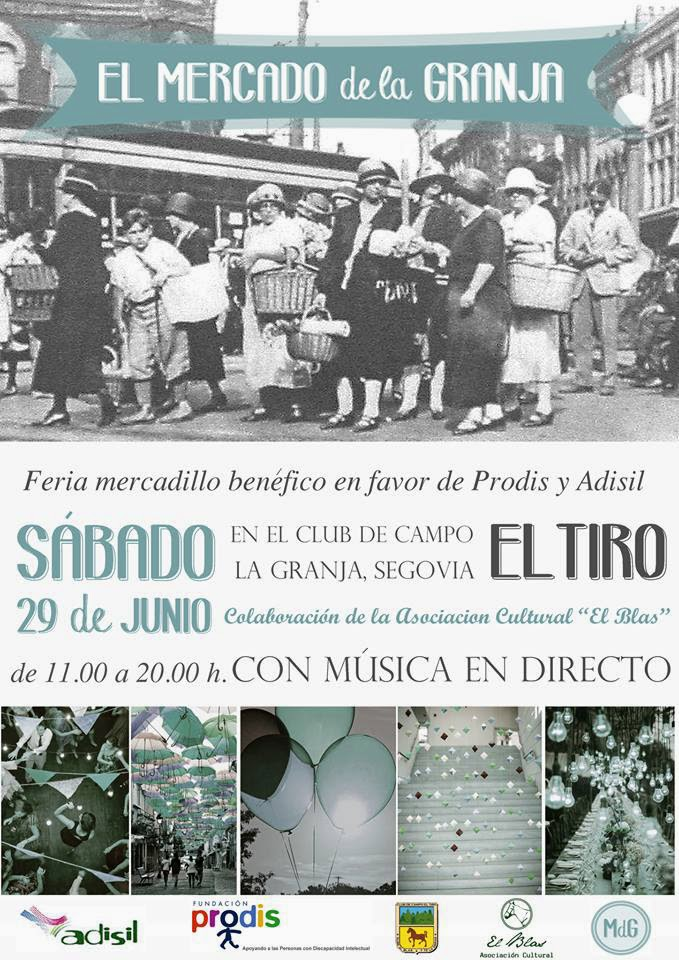 cartel mercadillo benefico hecho por doityourself