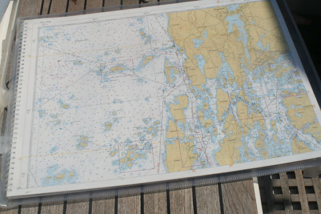 Maritime map showing a part of the archipelago of Åbo