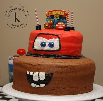 Cars 2 Birthday Party birthday cake | kreations by kristy