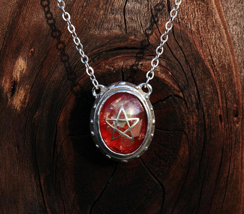 Alex streeter oddities crack red angel heart pendant crack red angel heart pendant mozeypictures Choice Image