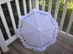 my newest white parasol for a wedding