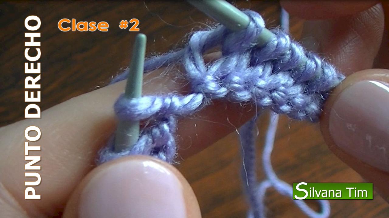 punto derecho tejido a dos agujas