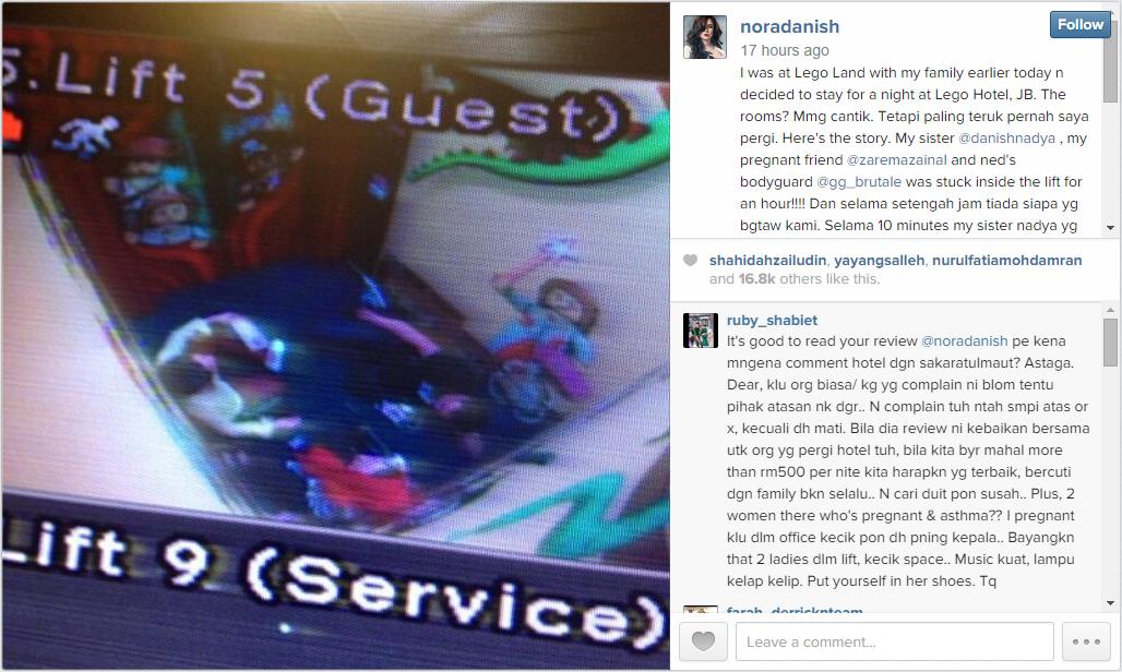 Instagram Nora Danish, Nora Danish Mengamuk Di Instagram,Nora Danish Marah Hotel Legoland Sebab Terperangkap  Lama Dalam Lif, Nora Danish Mengamuk Di Instagram.. Apa Yang Dia Marah Sangat Tu?