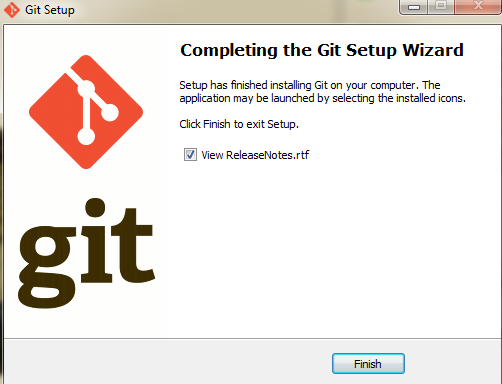 Git finish installation