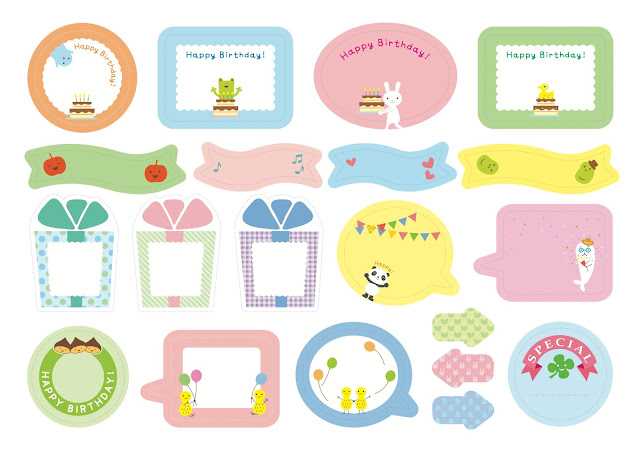 love Kawaii: Free Lovely Calendar and Labels from Belle Maison