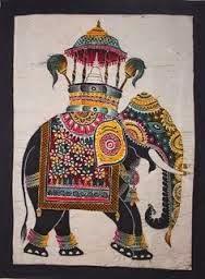 Foto Batik Tulis Corak Motif Hewan Gajah