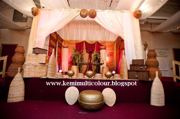 Multicolour interiordezine interiors and event decoration blog and an igbo wedding decoration hausa brides in traditional attires junglespirit Gallery