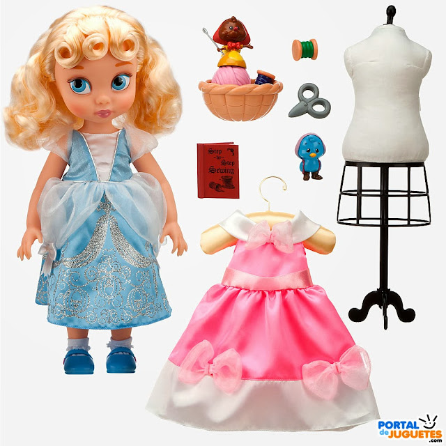 set coleccion cenicienta disney animators set completo