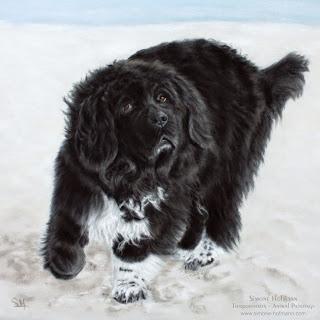Ein Tierportrait oder Hundeportrait nach Fotovorlage malen lassen.