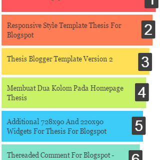Colorfull Popular Post Widget Blogger