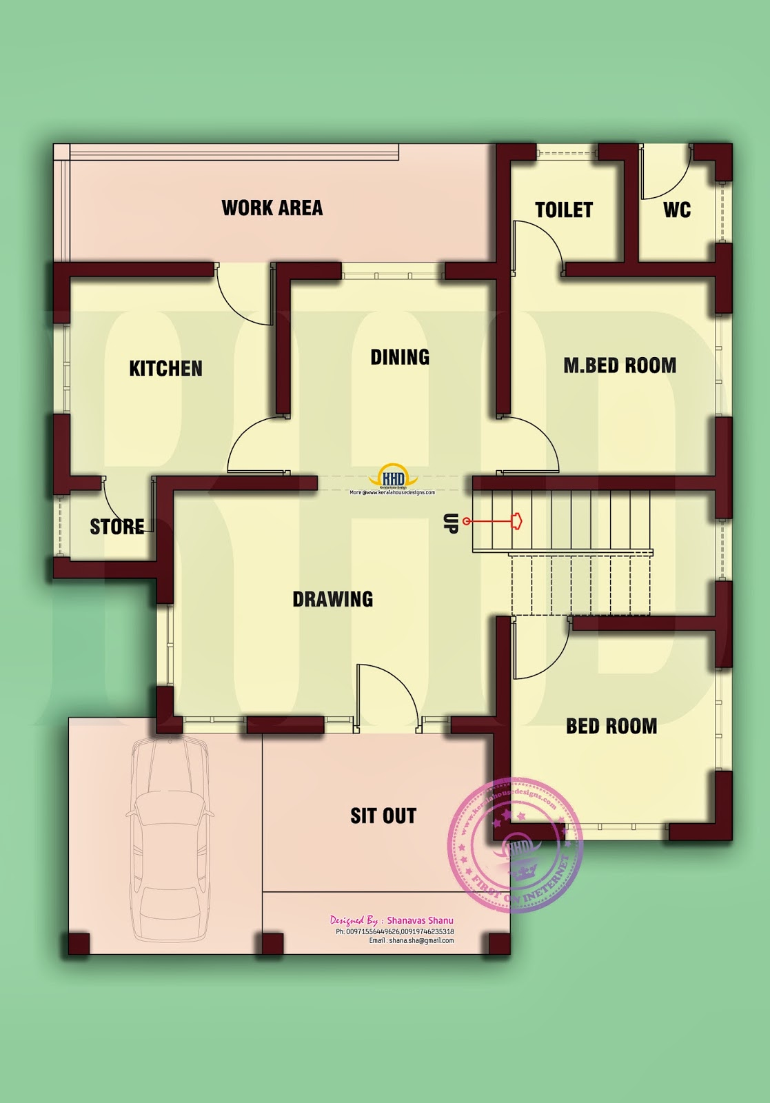 Home plan of small house kerala home design and floor plans for Looking for a 4 bedroom