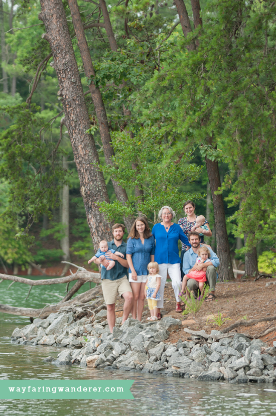 Hersey Family Adventure on Lake James, NC | Family Portrait on Lake | Boone North Carolina Family Photographer