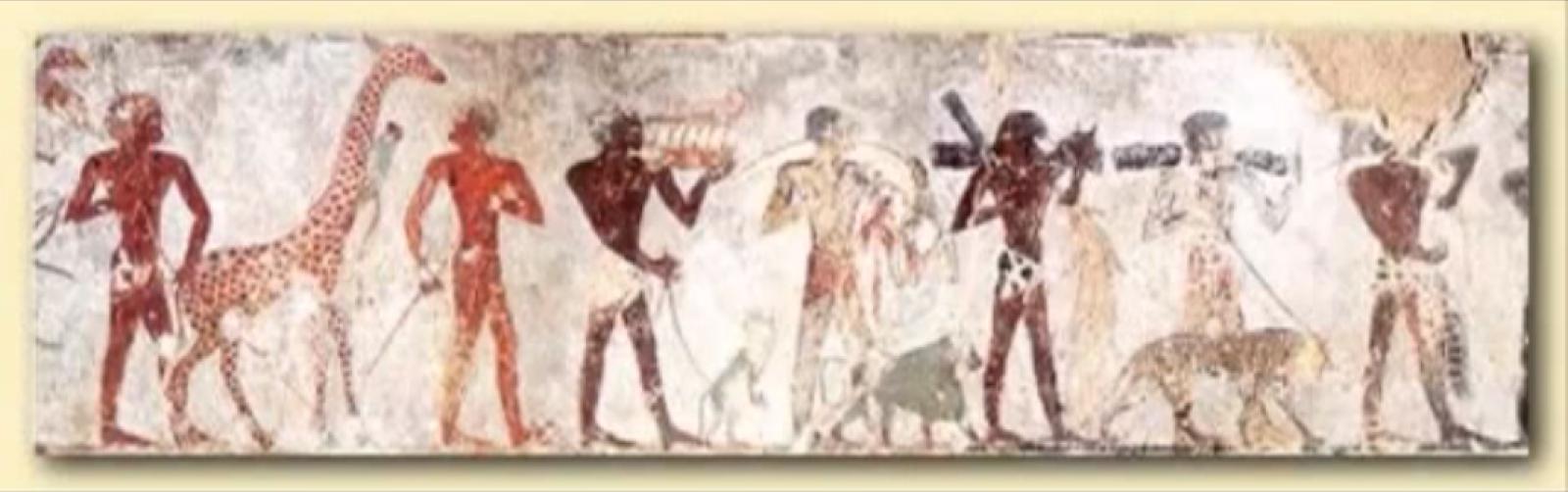 Egyptian Aliens Drawings c Lepsius' Drawing