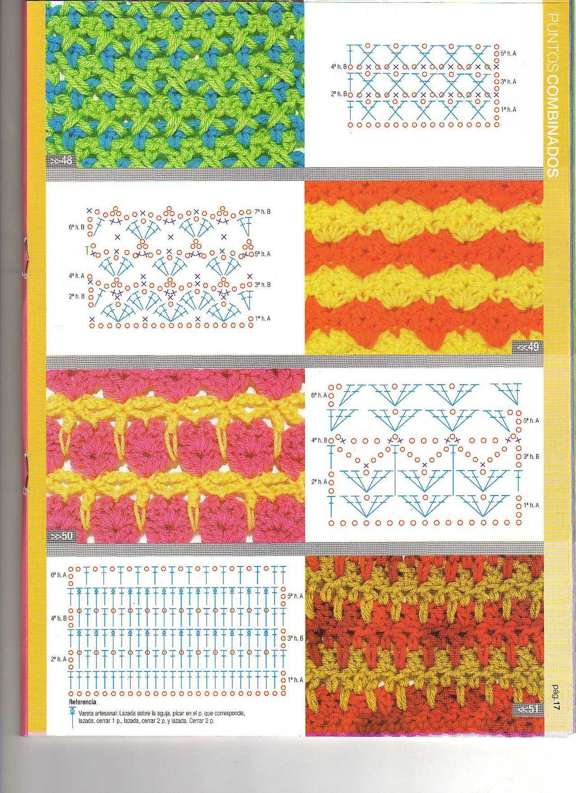 Solo puntos crochet dos colores - Salones pintados en dos colores ...