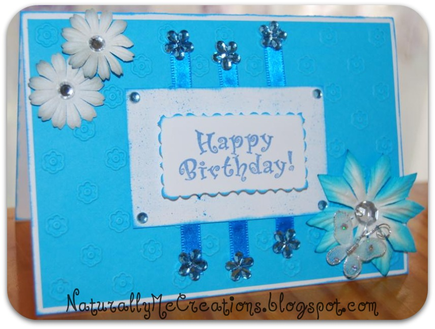 Naturally me creations very blue b day card