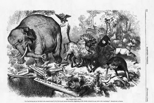 Viñeta del Elefante, obra de Thomas Nast
