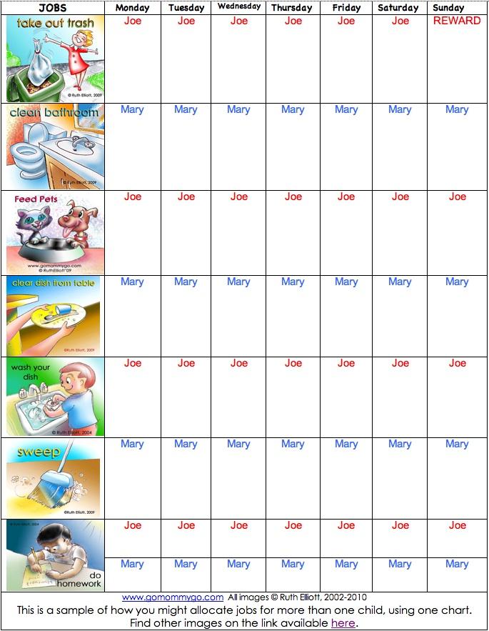 Wonderful Kids Daily Chore Chart Template 685 x 883 · 185 kB · jpeg