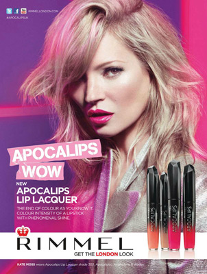 Kate Moss pintalabios Rimmel London apocalips lip lacquer