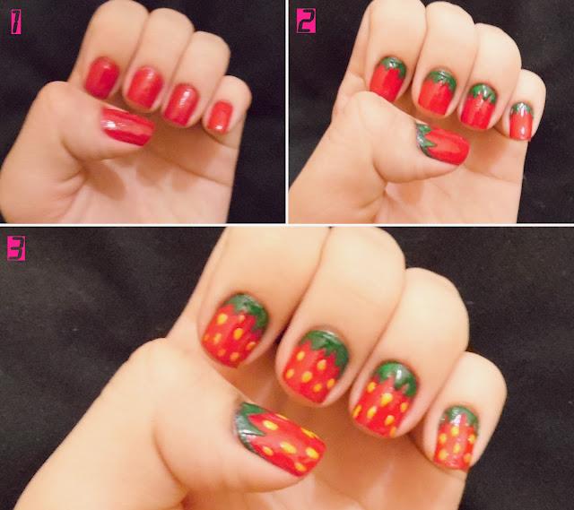 nail art morango