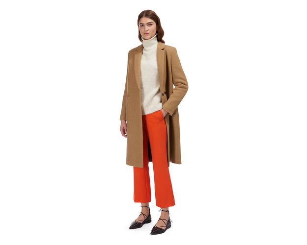 whistles camel coat,
