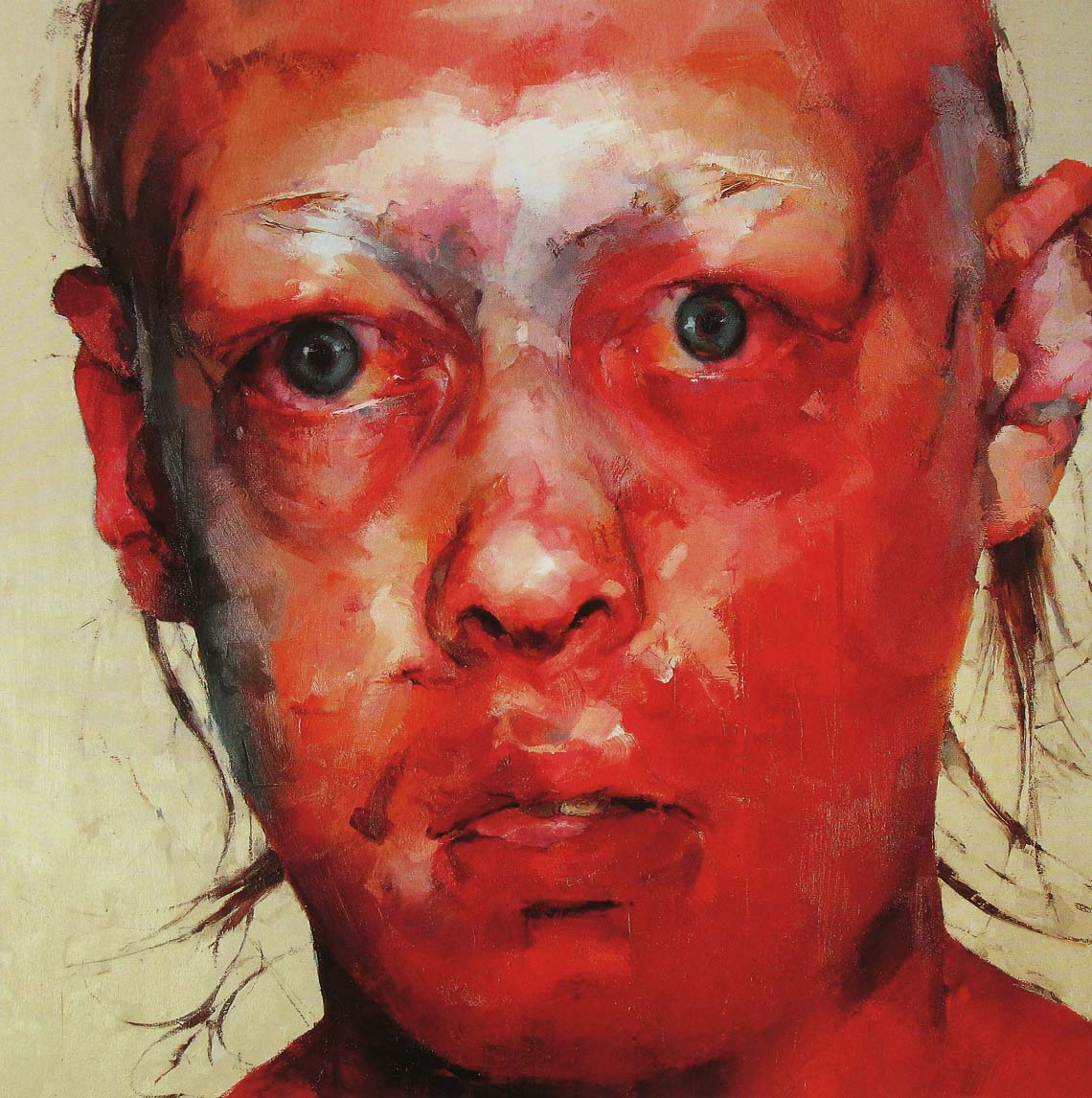The double truth fine art friday jenny saville for Airbrushing mural