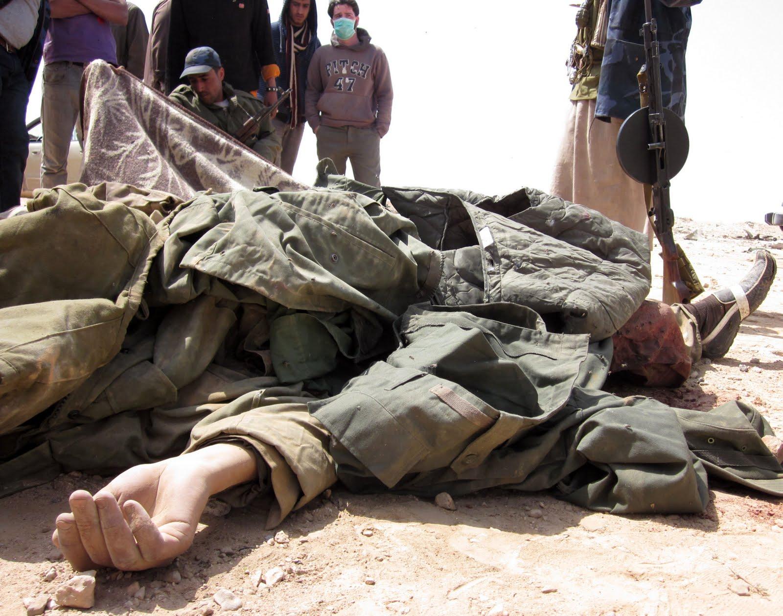gaddafi dead body