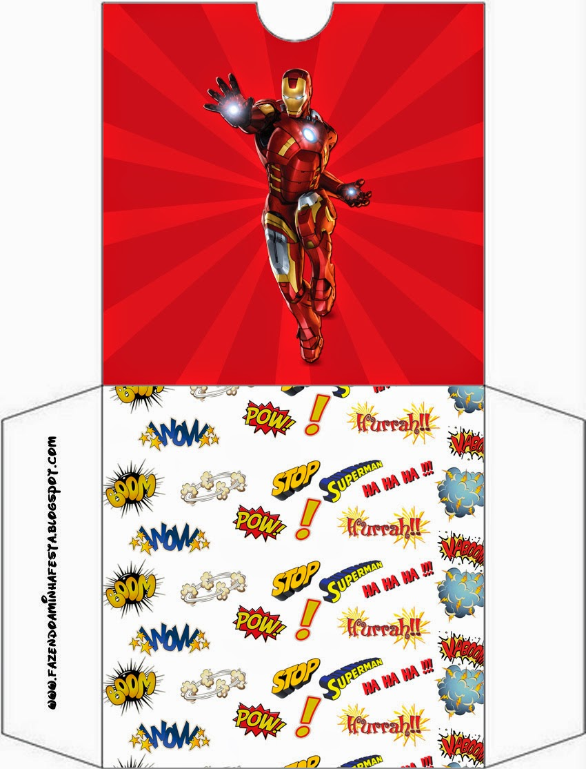 Funda de CD´s para imprimir gratis de Iron Man.
