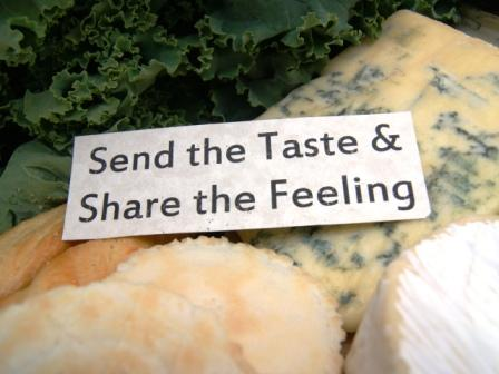gourmet images of blue cheese, organic kale, camembert