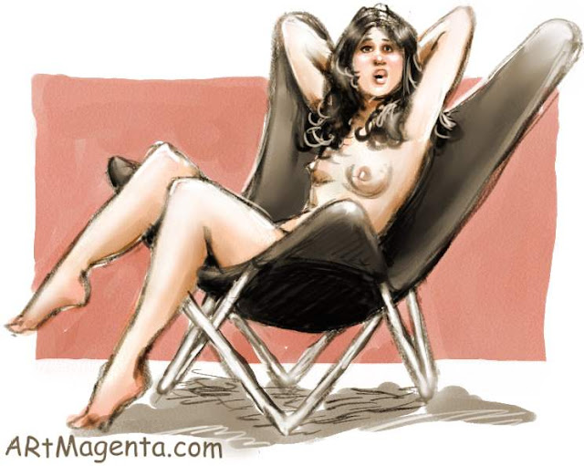 The butterfly chair is a life drawing by artist and illustrator Artmagenta