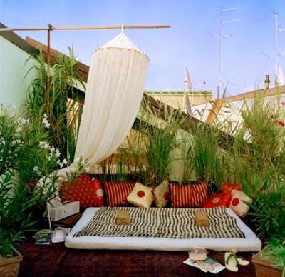 ideas decoracion de jardines - terraza zen - jardin descanso