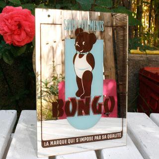 Miroir publicitaire des années 60 - Ourson Bongo