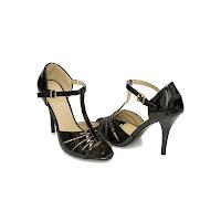 Sandale stiletto dama negre Ulli cu toc de 10 centimetri (modlet)