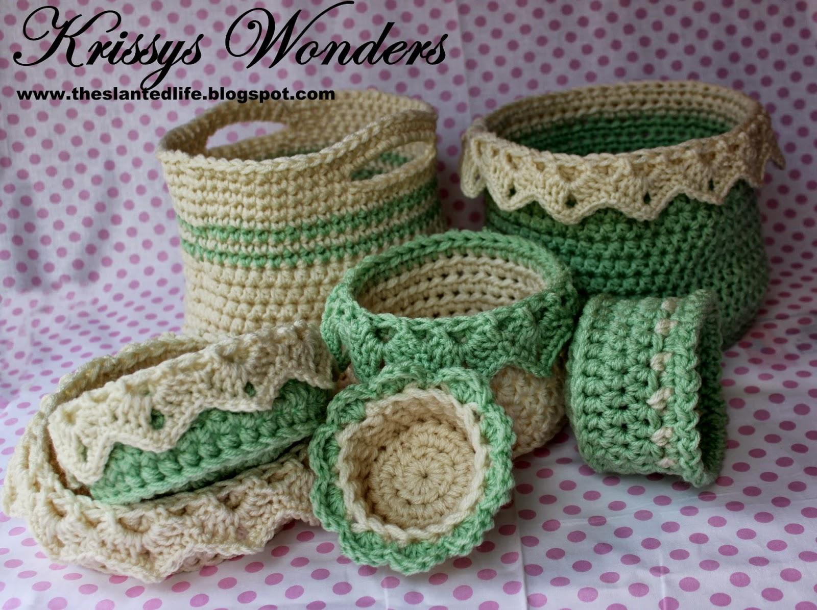 Free Crochet Flower Basket Pattern : The Slanted Life: Free Crochet Pattern for A Flower Basket