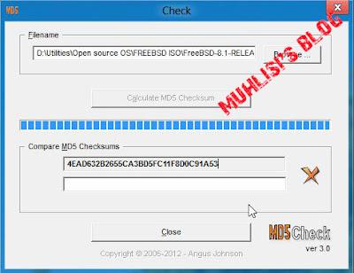 Cek kode md5sum File