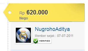 Verified Member di Tokobagus.com