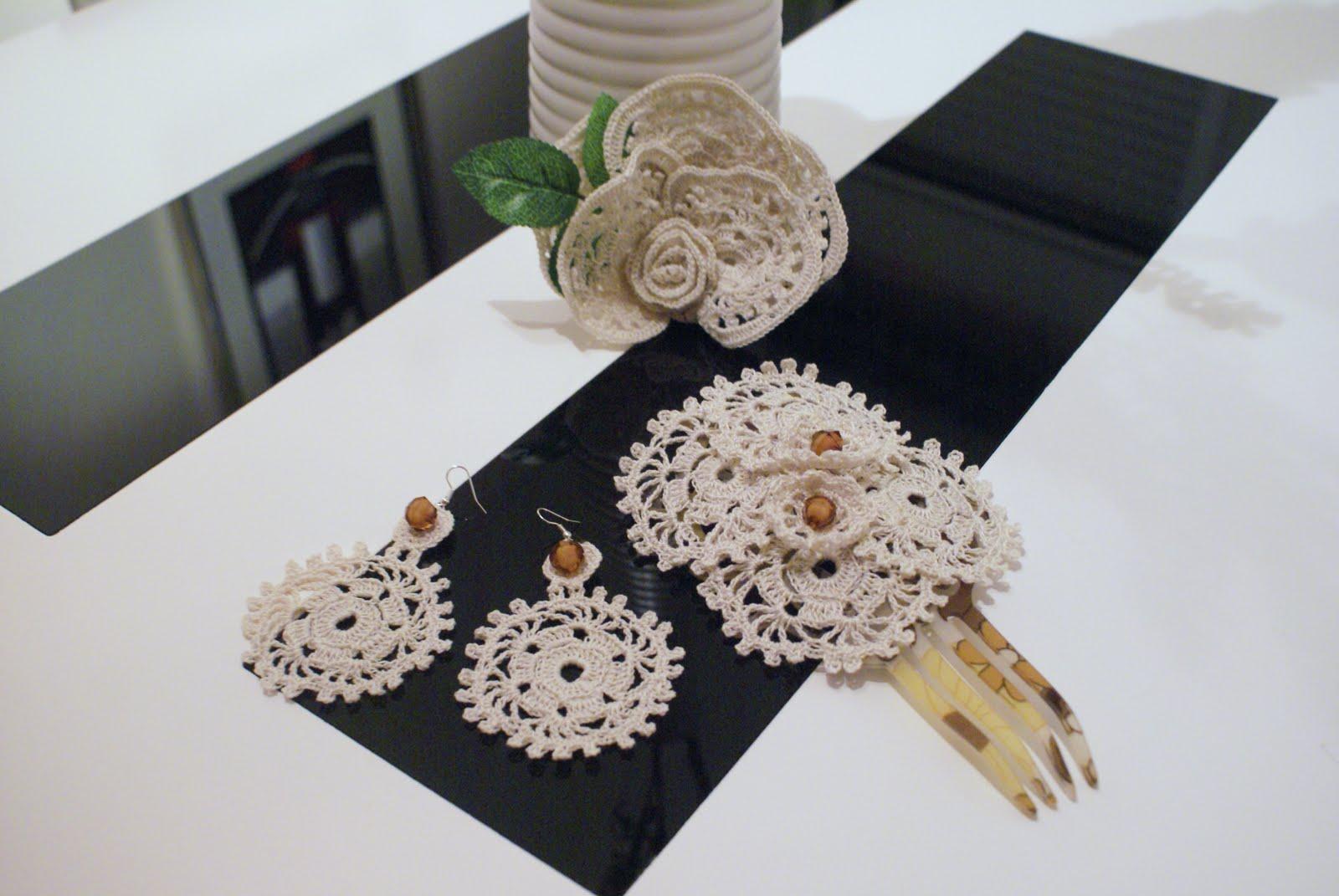 Manualidades peina pendientes y flor de flamenca hecha a - Manualidades a ganchillo ...