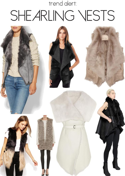 style therapy edits the trend: shearling vests