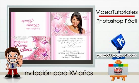 Invitacion Para XV A  Os VideoTutorial By Yanko0