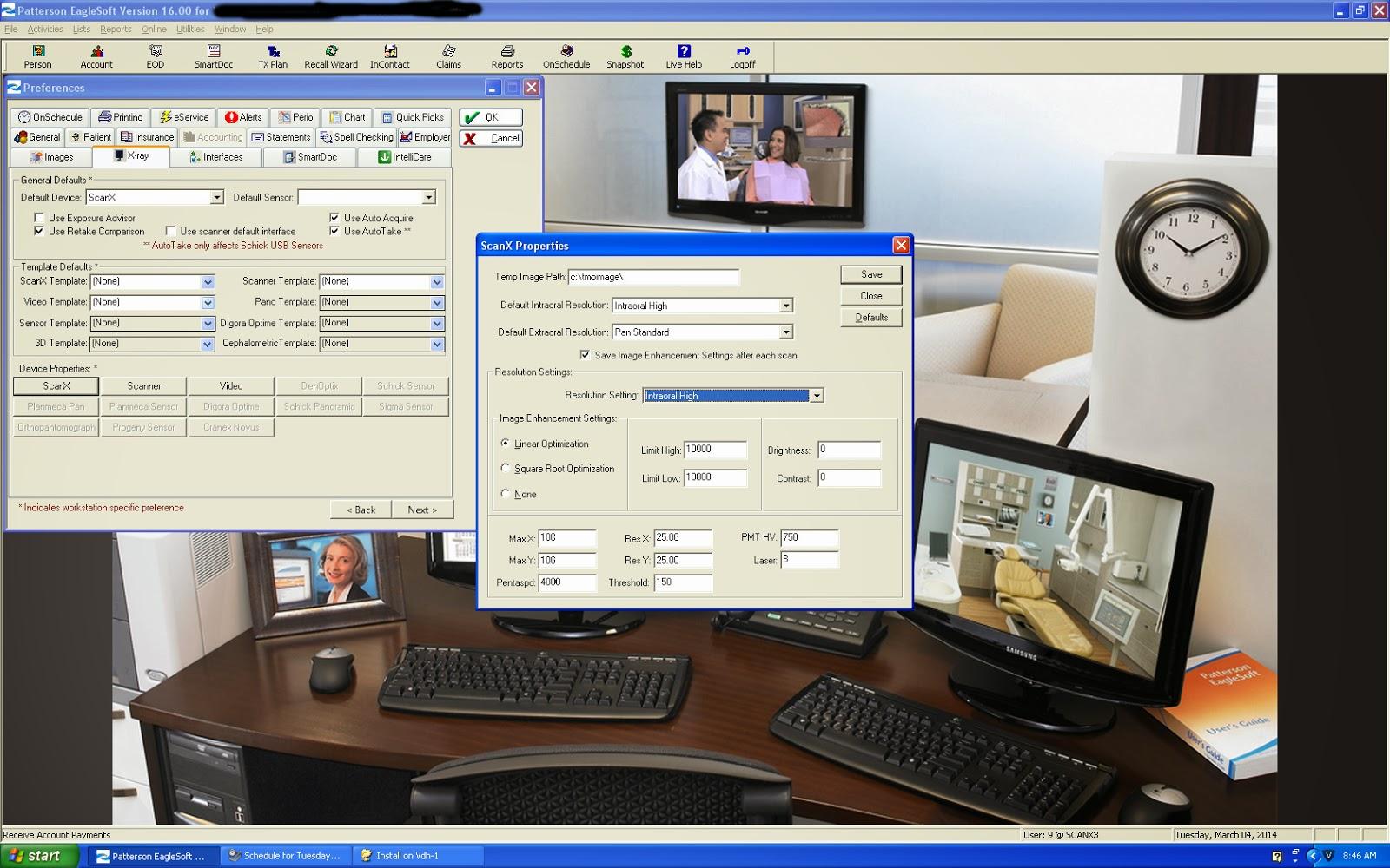 Justin Shafer: Eaglesoft 16 and Scan-X EPP Model (Parallel Port)