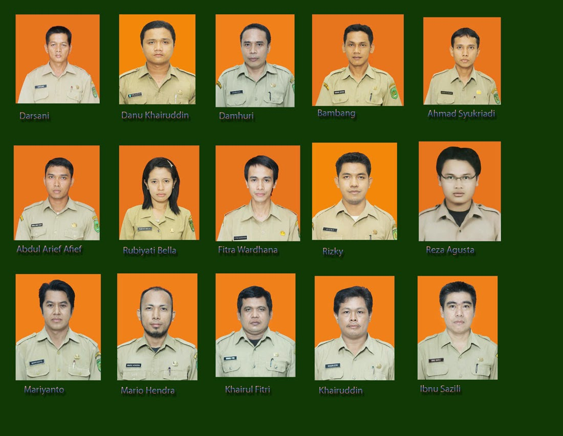 Karyawan dan Karyawati BKD Kab. Inhil