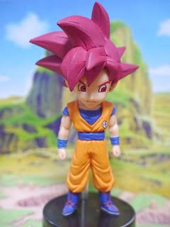 Miniatura do deus super saiyajin Goku