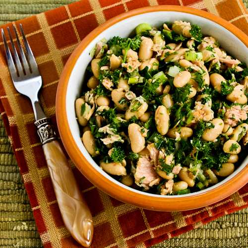 White Bean Salad Recipe with Tuna and Parsley found on KalynsKitchen ...